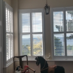 Full height shutters with off-set tilt rods