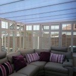Shutters in Conservatory