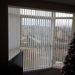 Vertical blinds in large bay window