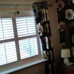 Bedroom Shutters with Curtains