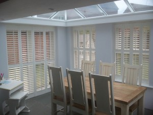 Shutters fitted in a Conservatory in Chester look smart & elegant