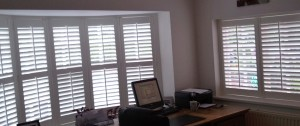 Shutters fitted for someone working from home